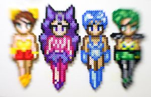 Ayakashi Sisters Bead Sprites Sailor Moon by LilithScream