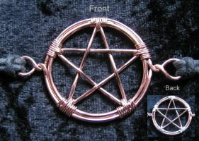 Pentacle Choker Pendant by InjunCrout