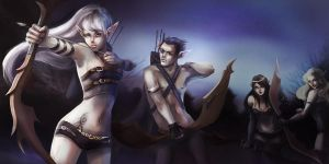 Elven Archers by NataliaSoleil