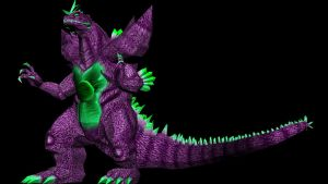 SUPER Godzilla!!! .obj for MMD conversion by kaxblastard