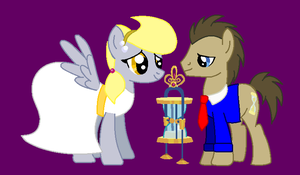 Derpy and The Doctor Love by TimeTwist1