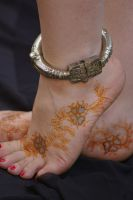 ~Arabic foot design with indigo detail~ by Emeraldserpenthenna