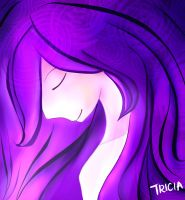 Girl with Purple Hair by sugarandspice5