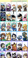 cricket's favorite characters meme *updated* by cricketune