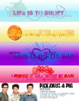 + Pack 2: textos PNG Jonas Brothers by onlyexeption-JB