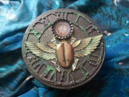 Steampunk Scarab Box by CannibalCupcakes