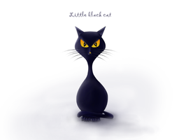 Little black cat by goodghost1980