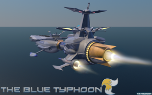 The Blue Typhoon by mixlou
