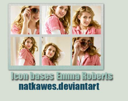 Icon bases - Emma Roberts by Natkawes