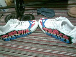 Graffiti Shoes: Boricua Taino by Peyo745