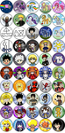 Over 100 Anime/Video Game Buttons: Part 2 by eyfey