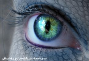 Reptil eye by KelpyKrad