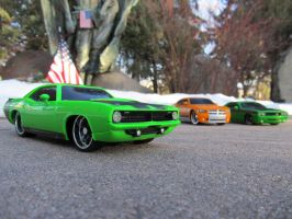 Green Cuda by KateKannibal