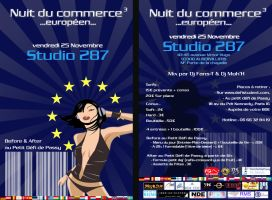 flyer nuit du commerce by ouissla