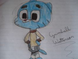 My other drawing of Gumball(not exactly...) by LotusTheKat
