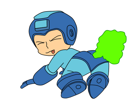 Gassy Megaman by soniclover562
