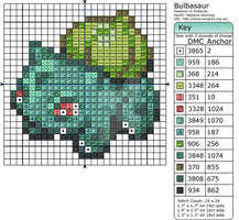 Pokemon - Bulbasaur by Makibird-Stitching