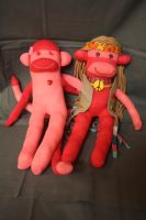 hippie dippy duo in pink by Mab-overthrown