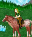 Astrid and aurora The Big Fyndavra Endurance Ride by theliondemon-kaimra