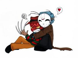 FreddyxJason Cuddle of DOOM by thedarklordkeisha