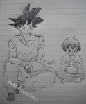 Goku and Pan Nekomajin by RMAlexis