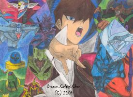 Kaiba and His Monsters by Dragon-Celtic-Chan