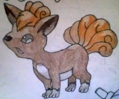Vulpix Coloured by KayceeMuffins