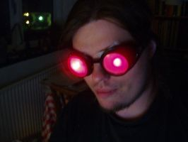 Homemade glow goggles by Brother-Maynard