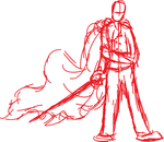 WIP/Rough Sketch - Sword Fighting by WhovianAndWarriors