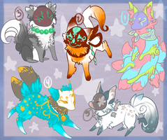 Masked Fox Adopts [OPEN] - Price lowered + Points by Ticklebutt