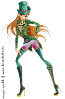 Winx Club Flora Goth in FC PNG Two! by Magic-World-of-Winx