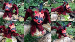 Mordrel - Poseable Raccoon Dragon - SOLD by SonsationalCreations