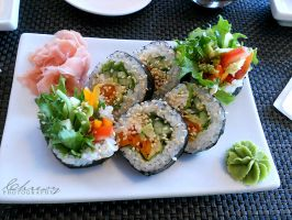 Vegetable Sushi by Chresy