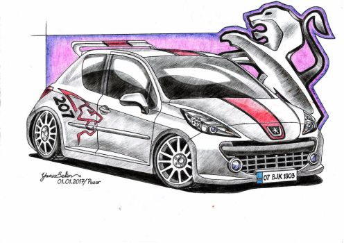 Peugeot 207 RC drawing. by YavuzSelim07