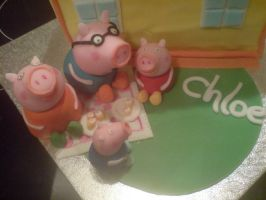 Pepper Pig Sugarpaste by Catzombies