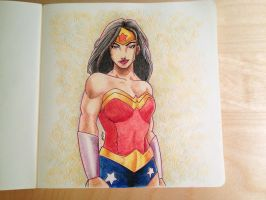 Wonder Woman Drawing by mo-stylez09