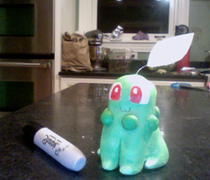 Chikorita - Clay Model by Tellala