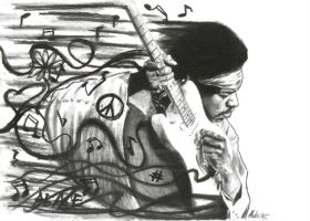 Jimi Hendrix by maddrawings