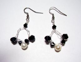 Coal Into Pearls Earrings by Shywalker
