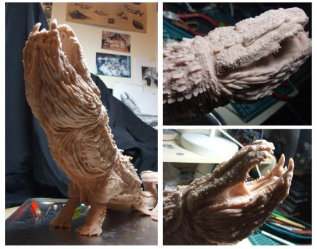 Leviathan Mid Stages of Sculpture by LDN-RDNT