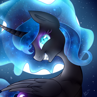 Full Moon by peaceouttopizza23