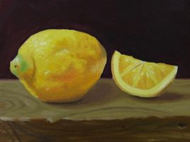 Lemon Oil Painting by golfiscool