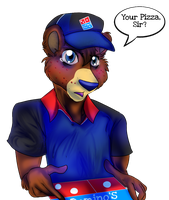 Your Pizza, Sir? by Floppy-Doggie
