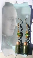 Loki's Magic in a Bottle Earrings by KouranKiyo
