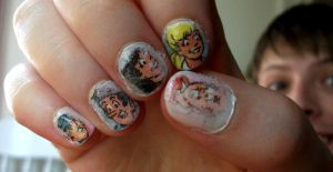 Archie Comic Nails by kaylamckay