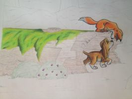 Traditional Fox and Hound WIP by Carlene707