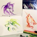 Patreon Monochromatic Wolf Sketches by Lucky978