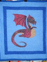 Baby Dragon Quilt by mamacateyes