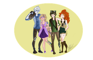 Big Four Babes by Ally-A-Pally