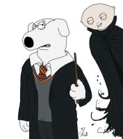 Brian Potter and Stewiemort by kalicothekat